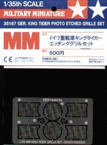 TA35167 King Tiger etched grilles